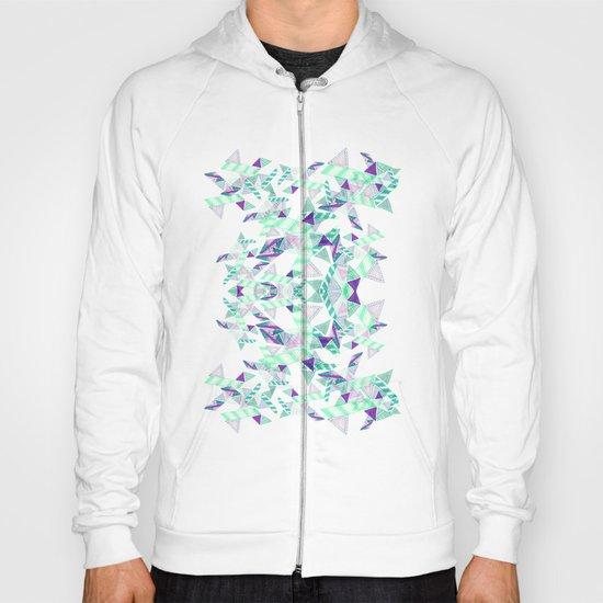 Kaleidoscopic print illustration  Hoody