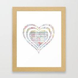 The System - heart Framed Art Print