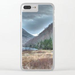 Frozen Franconia Notch Clear iPhone Case