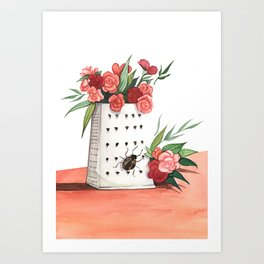 Unexpected Terrarium Bug Art Print