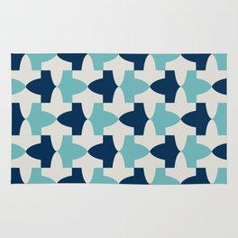 Alhambra Motif Blue Palette Rug