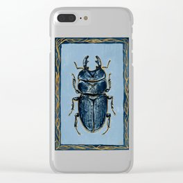 Tasmanian Stag Beetle Clear iPhone Case