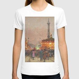 Paris La foire du Trône à la place de la Nation by Eugene Galien Laloue T-shirt