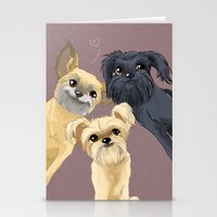 brussels Stationery Cards featuring Brussels Griffon by Bark Point Studio