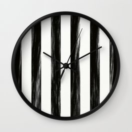 Strong Black Painted Stripes Wall Clock