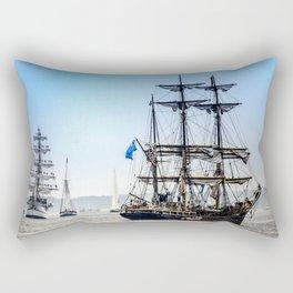 Majestic sailing view, Boston MA Rectangular Pillow
