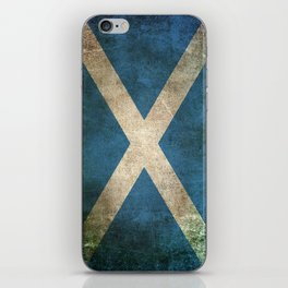 Old and Worn Distressed Vintage Flag of Scotland iPhone Skin