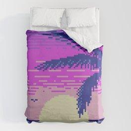 Pixel Sunset Duvet Cover