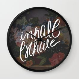 INHALE/EXHALE Wall Clock