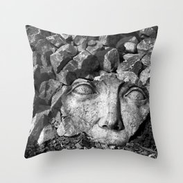 Gaia in Rubble Throw Pillow