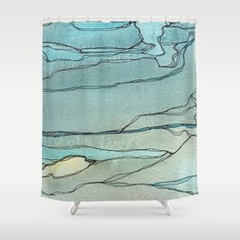 Springs in the Bedrock Shower Curtain