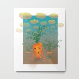 runaway carrot Metal Print