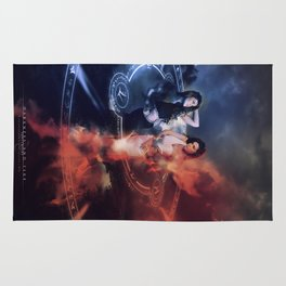 Darkness and Fire Rug