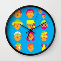 moonrise kingdom Wall Clocks featuring Moonrise Kingdom by Brittany Metz