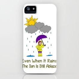 Sunshine and Rain iPhone Case