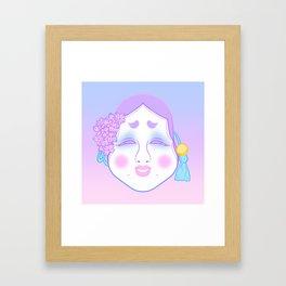Okame Mask (pastel) Framed Art Print