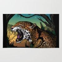 jaguar Area & Throw Rugs featuring Jaguar by Adamzworld