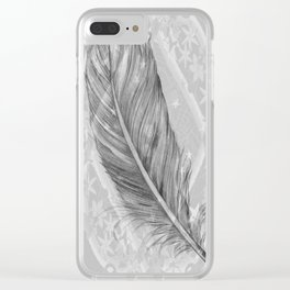 purity, peace & stars Clear iPhone Case
