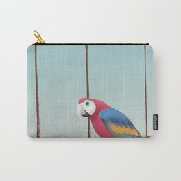Parrott and Palms Carry-All Pouch