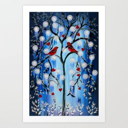 Winter Tress Art Print