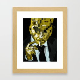 Beware the competitive mind. 2017. Framed Art Print