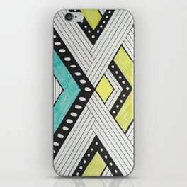 Color Block Stripes iPhone Skin