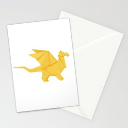 Origami Golden Dragon Stationery Cards