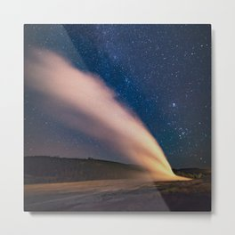Old Faithful & New Moon Metal Print