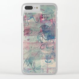 Guernica part, the bull and the screaming woman ( Clear iPhone Case