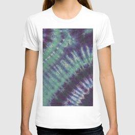 Fractal Tie Dye Turquoise Purple Blue T-shirt