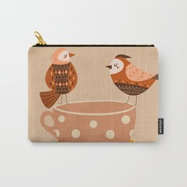 Birds and Teacups Carry-All Pouch