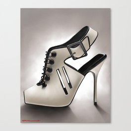 Manolo Blahnik shoe Canvas Print