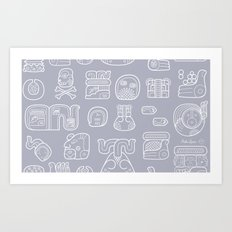Picto-glyphs Story Art Print