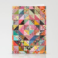 fabric Stationery Cards featuring Grandma's Quilt by Rachel Caldwell