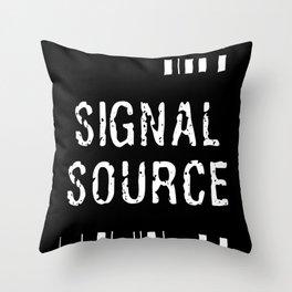Signal Source Throw Pillow