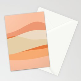 Peachy Waves Stationery Cards
