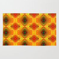 orange pattern Area & Throw Rugs featuring Orange Pattern by Art-Motiva