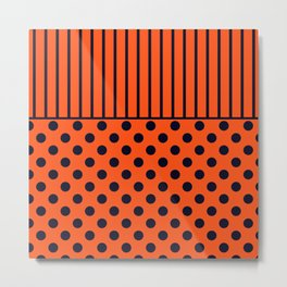 Orange, combo pattern Metal Print