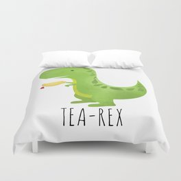 Tea-Rex Duvet Cover