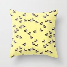yellow corgis Throw Pillow