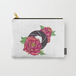 Floral Shutter Carry-All Pouch