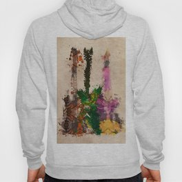 guitars 3 art Hoody
