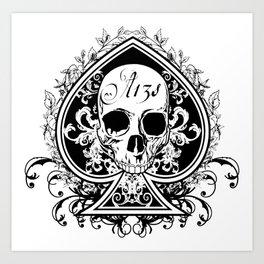 Halloween Ace of Spades Art Print