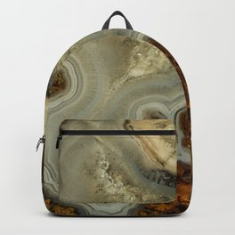Colorfull pattern of a mineral stone Backpack