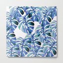 Monstera Pattern Blue by lavieclaire