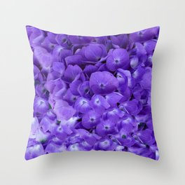 Amethyst  Hydrangea Flowers Garden Art Throw Pillow
