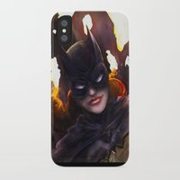 batgirl iPhone & iPod Cases featuring Batgirl by Nicole Ales Art