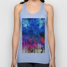 Bright Blues and Pinks Pattern Abstract Unisex Tank Top