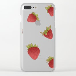 strawberry world Clear iPhone Case