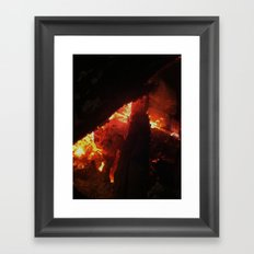 Bonfire~takibi~ Framed Art Print